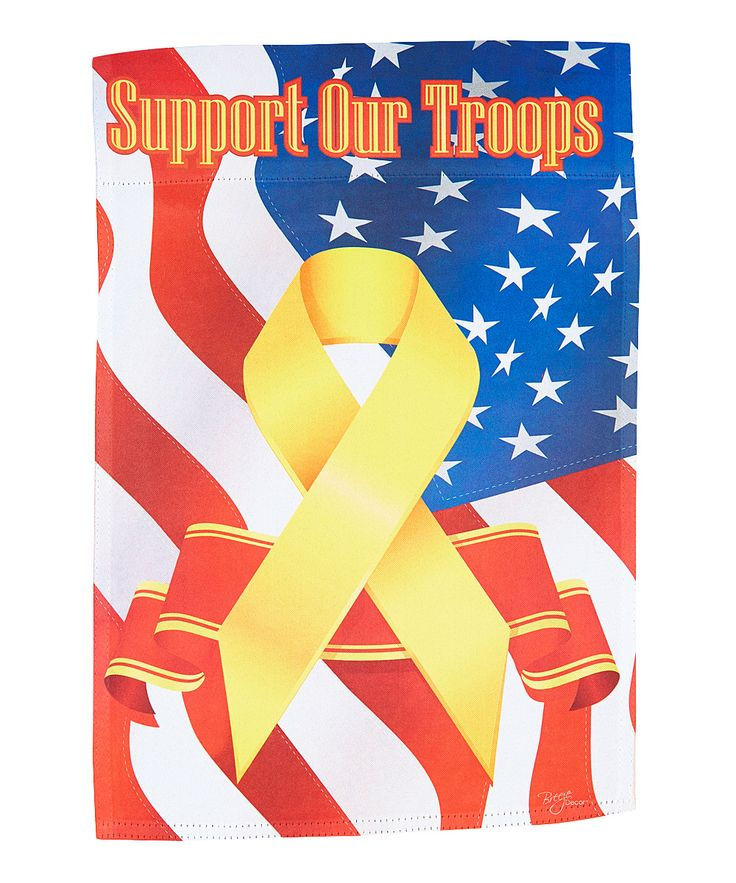 'Support Our Troops' Outdoor Flag