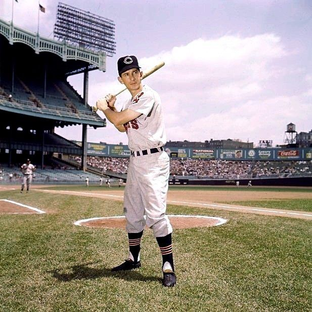 Billy Martin at Yankee Stadium in 1959 as a member of the Cleveland Indians