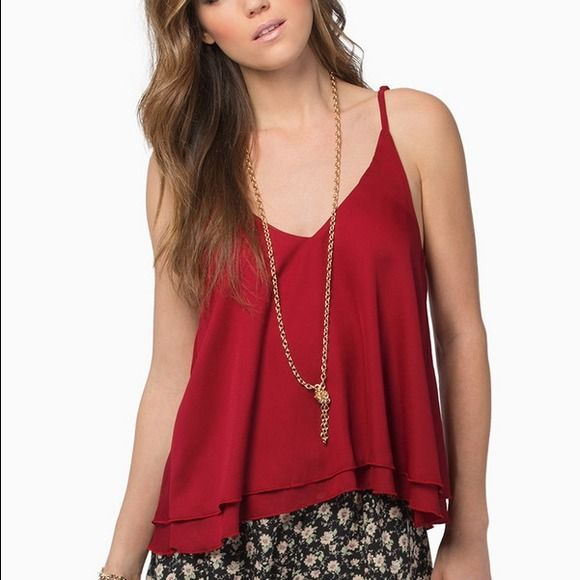 Red tank top shirt Casual and can be worn dressy. Dressy / party/ cocktail / outing shirt / fancy / red / Tops Tank Tops