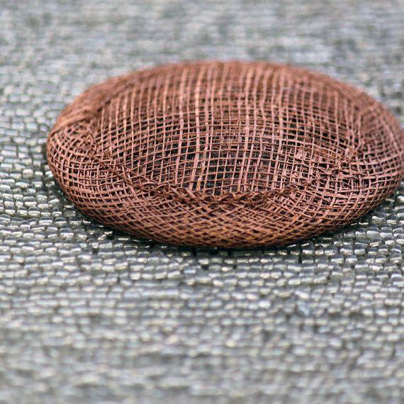 7.5 cm Mini Saucer Metallic COPPER Round Sinamay di MoxieMilliner, $6.00