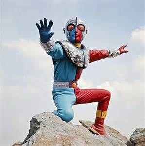 Classic Kikaider live-action series with Kikaider 01's pic.   (In the past, this has been televised on the KIKU station in Hawaii.  All Kikaider shows are available in video and/or DVD format.)