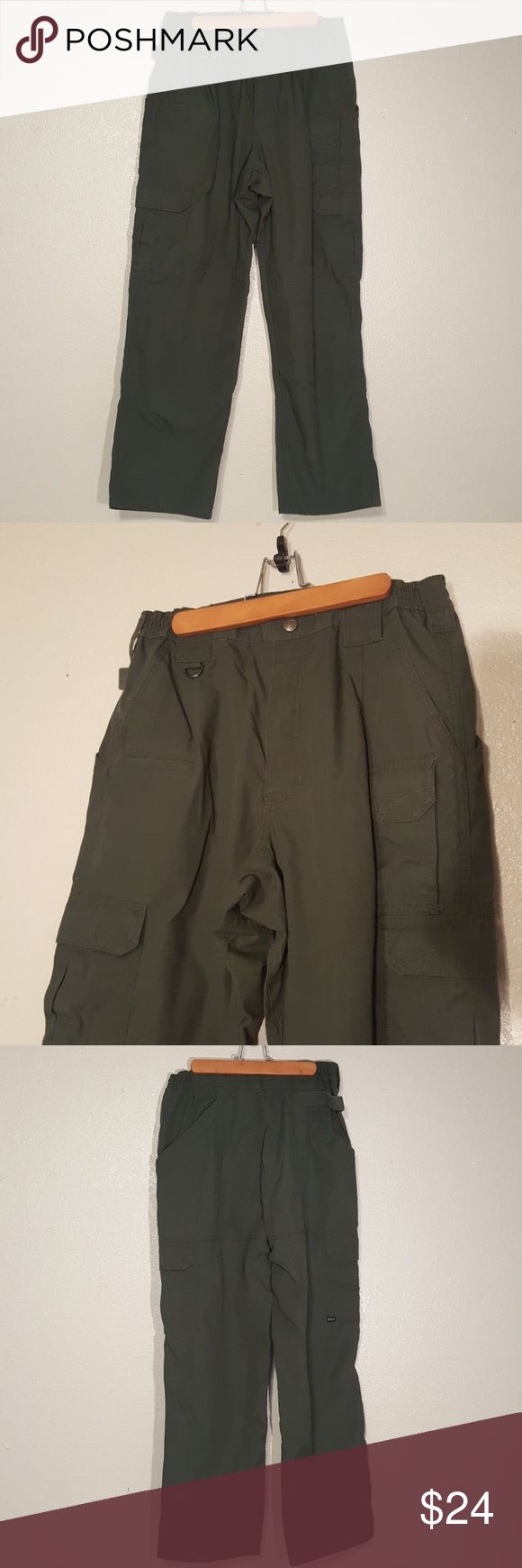 511 TACTICAL PANTS Military green 511 Tactical Cargo Pants.  Size 32/30.  Pants were worn once, excellent condition.  No rips tears or stains. 5.11 Tactical Pants Cargo