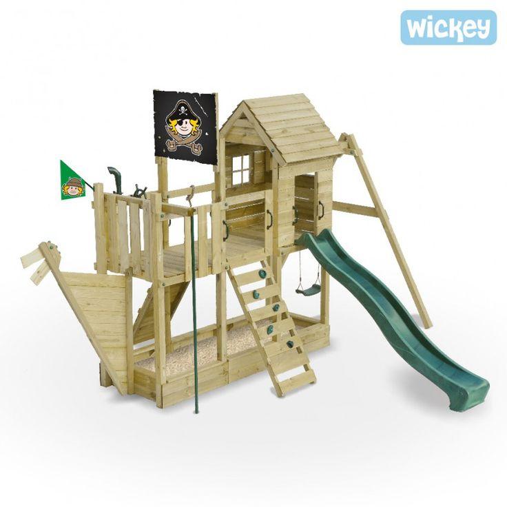 Wooden climbing frame Bluebeard`s Ship, play centre 1370 Wicked