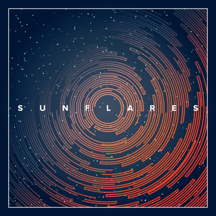 Debut album cover art designed by jimdesigns for Sunflares. Abstract lines swirl in a telescopic celestial view for this cosmic themed design. #astronomy #astral #art