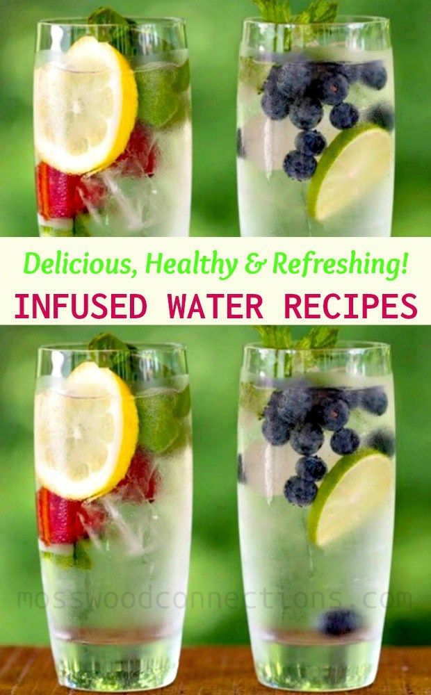 Delicious, Healthy, and Refreshing Infused Water Recipes. #healthy #drinkyourwater #infusedwater #recipe #healthyrecipes #mosswoodconnections