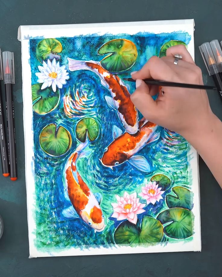 Real Brush Pen Process Video🐠