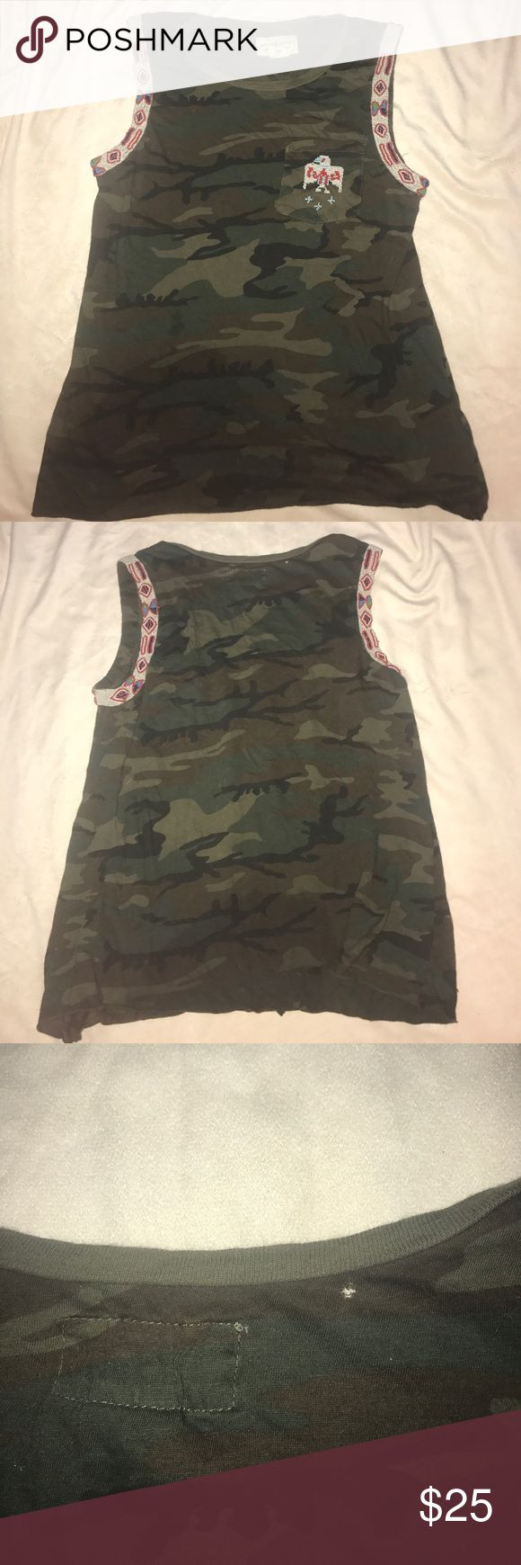XS denim and supply camouflage tank top Extra small sequin and a camouflage Denamen supply by Ralph Lauren tank top gently used Denim & Supply Ralph Lauren Tops Tank Tops