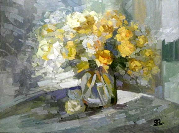 Still Life Yellow Roses,    60x80 oil on canvas