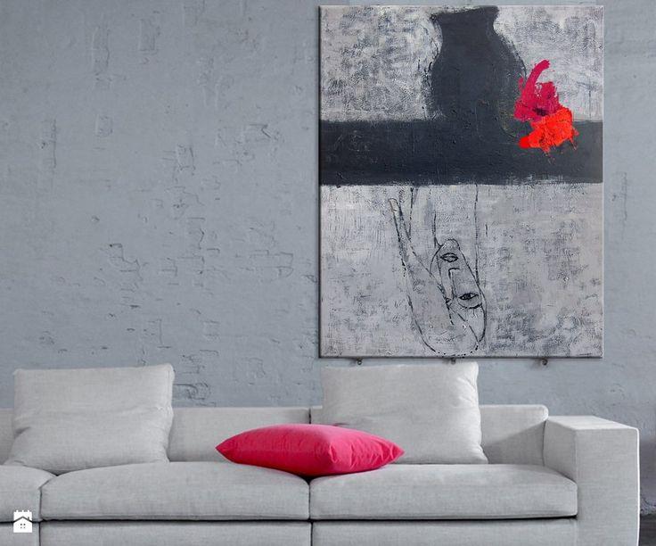 Obraz akryl 05 Abstrakcja W100xS80cm - zdjęcie od Iwona Bilska 2 - Salon - Styl Industrialny - Iwona Bilska 2