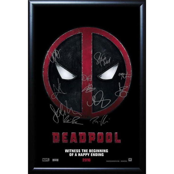 Luxe Cast-signed Deadpool Movie Poster