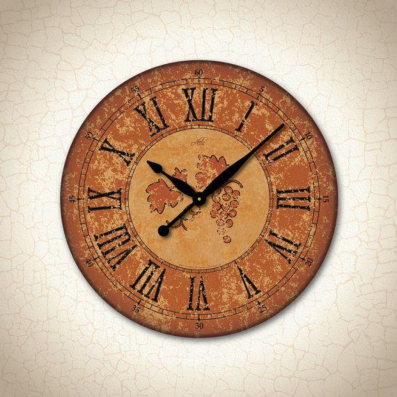 SIENA   Large Wall Clock In Burnt Orange U0026 Black.