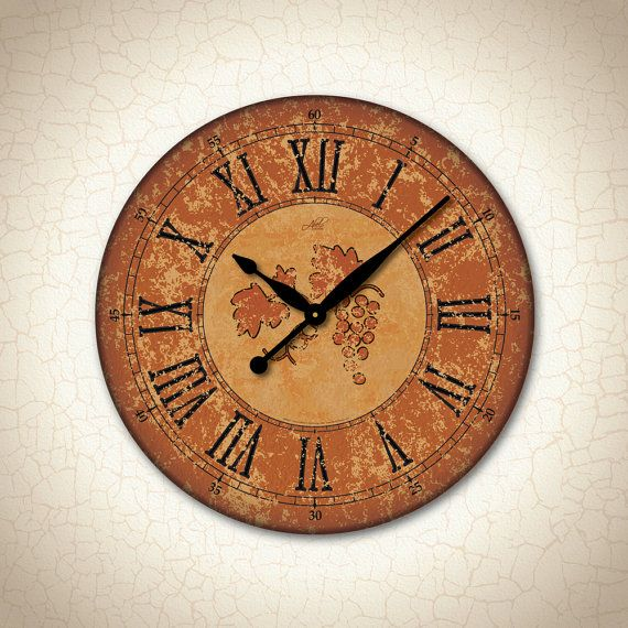 Inspired by the beauty and warmth of #Tuscany this #wine #clock will add a bright but elegant touch to your #decor.