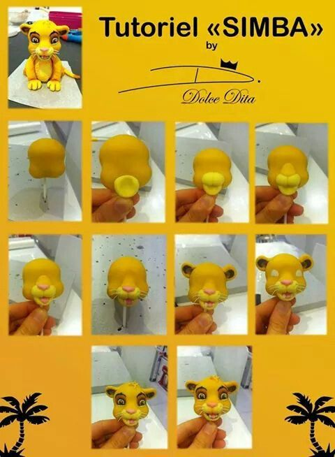 Simba Cake Topper Tutorials Pinterest Cakes