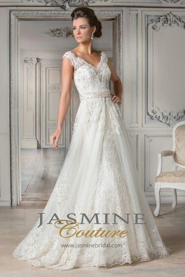 Jasmine Couture Wedding Dresses - Style T172063 [T172063] : Wedding Dresses, Bridesmaid Dresses, Prom Dresses and Bridal Dresses - Best Bridal Prices