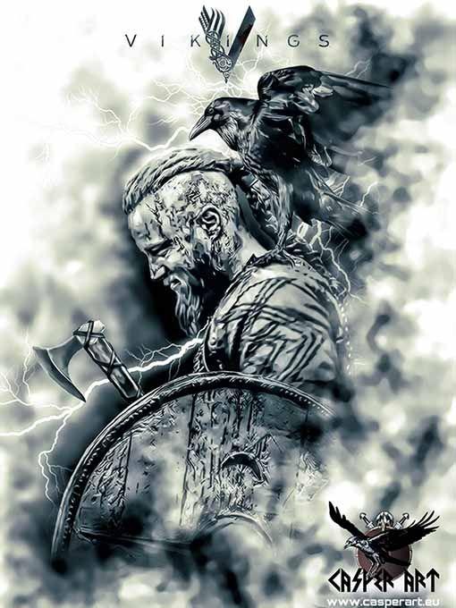 Vikings Ragnar by thecasperart