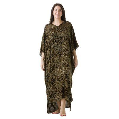 Sundrenched Long Kaftan Cheetah: Brown - $35.00 #kaftans #summerclothes #plussize