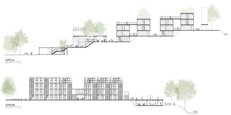 Galeria de 5° Lugar no concurso para Moradia Estudantil da Unifesp Osasco / Bacco Arquitetos Associados - 8
