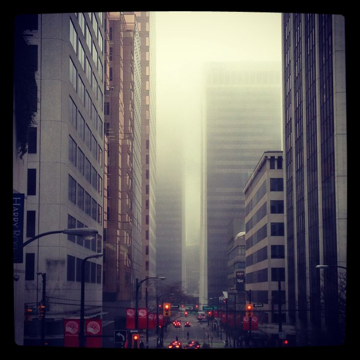 Foggy Downtown Vancouver.