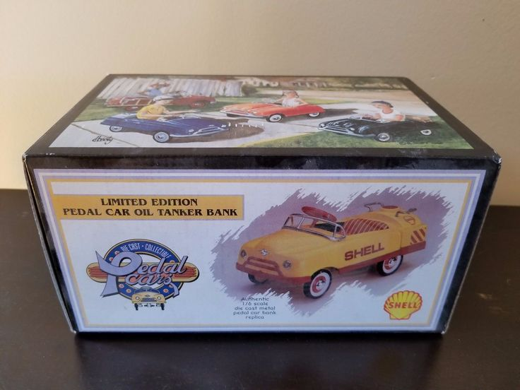 Contemporary Manufacture 2498: Crown Pedal Cars Limited Edition Pedal Car Oil Tanker Bank Shell Diecast Rare -> BUY IT NOW ONLY: $66.99 on eBay!