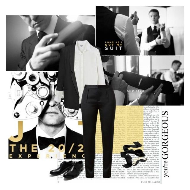 And as long as I've got my suit and tie, I'mma leave it all on the floor tonight by joka93 on Polyvore featuring Steven Alan, French Connection, Alexander Wang, Hermès, Tom Ford, boyfriend blazers, cocktail rings, tie, jt and pants