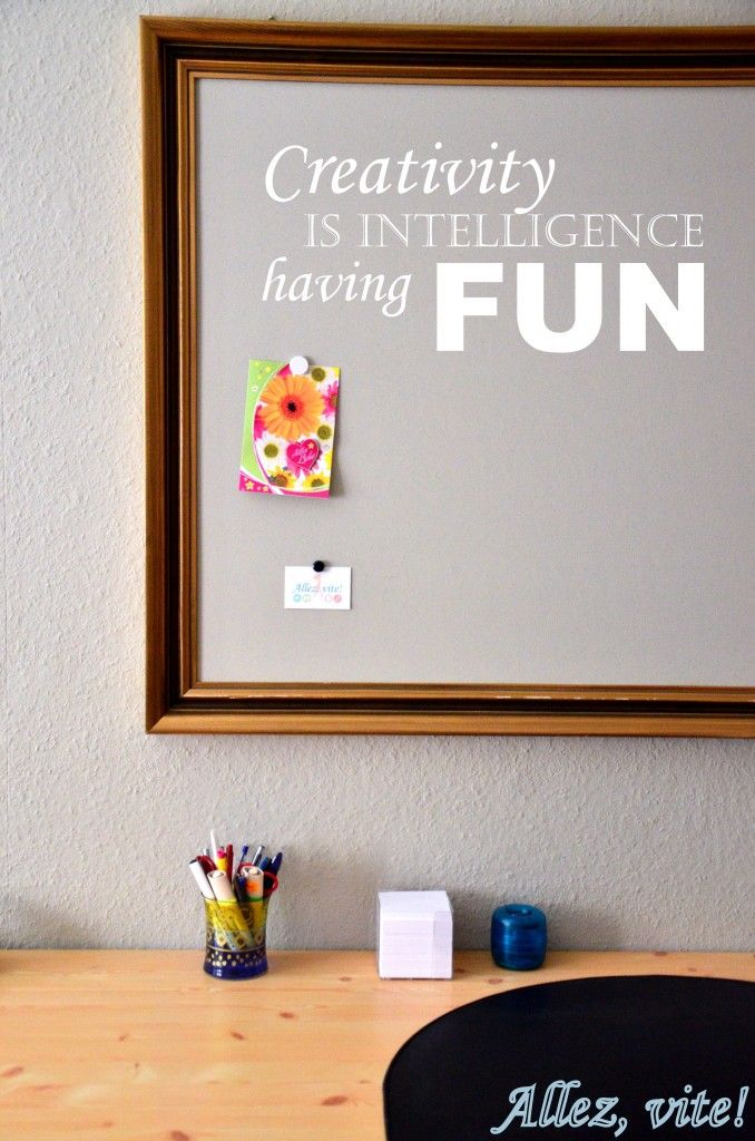 Eine tolle Idee für eine stilvolle und individuelle Magnetwand von Michelle (Allez,vite!) #DIY #doityourself