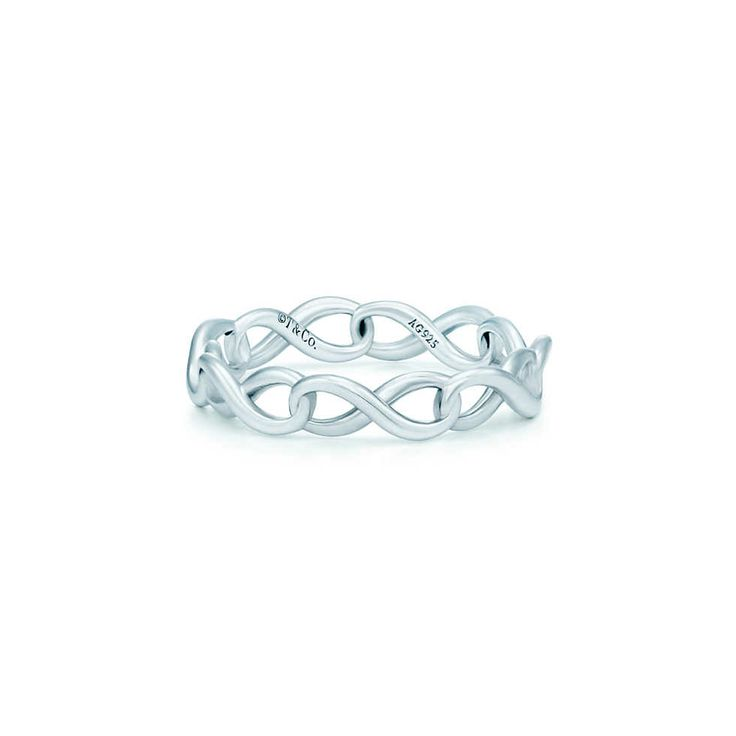 Tiffany Infinity narrow band ring in sterling silver. | Tiffany & Co. (kind of obsessed with the infinity symbol... already have a ring I love featuring it but this one is awesome!)
