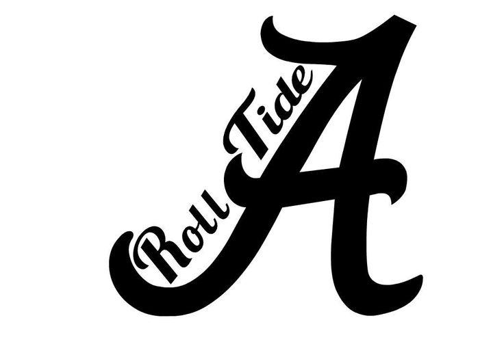 HIGH QUALITY PRECISION CUT VINYL DECAL Similar To Alabama Crimson Tide Football Team Roll Tide