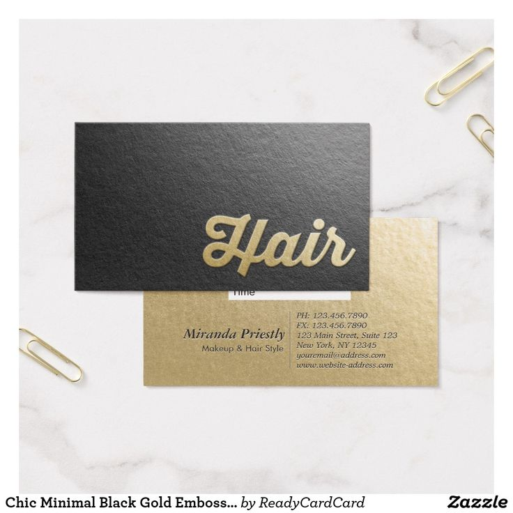 520 best business cards hair stylist images on pinterest hair chic minimal black gold embossed text hair stylist appointment card reheart Choice Image