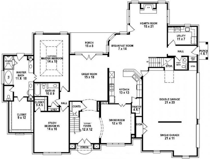 3 master bedroom floor plans 654733 4 bedroom 4 5 bath house with fantastic master 17997