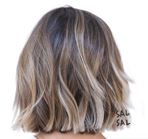 balayage bob by Sal Salcedo                                                                                                                                                                                 More