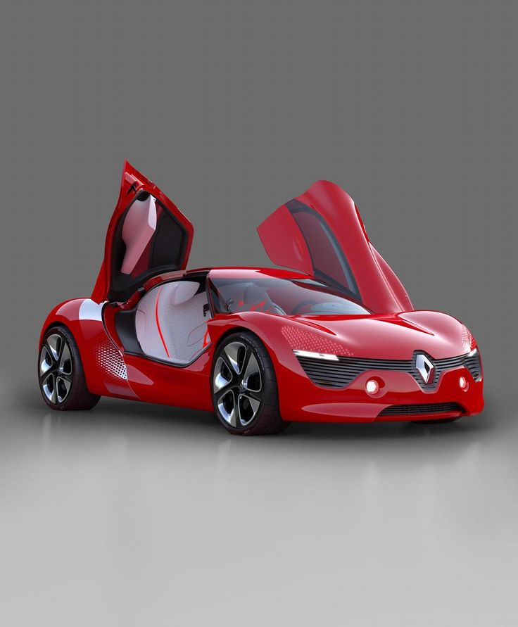 Renault DeZir electric two seater coupé concept car (2010) with butterfly doors