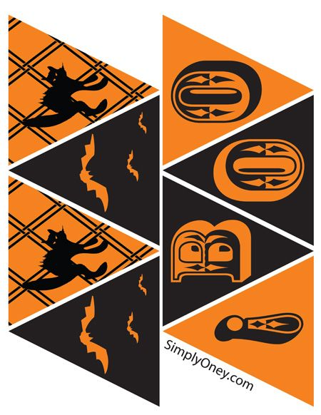 Halloween bunting printable.