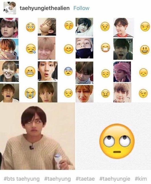 v bts taehyung emotions