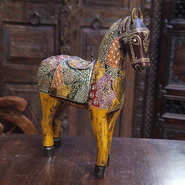 Скульптура «Индийская лошадка», издерева, роспись / Скульптуры ифигуры издерева / ПРЕДМЕТЫ ИНТЕРЬЕРА / мебель из массива, Индийская мебель, Восточная мебель