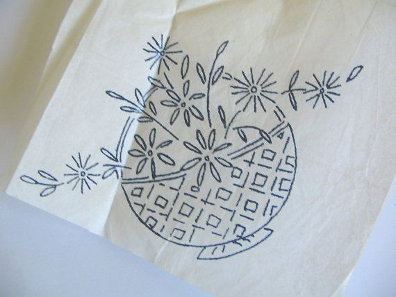 vintage embroidery transfers | Items similar to Vintage Iron On Embroidery Transfers - Boynton and ...