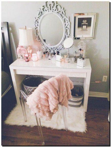 Ovale ronde Barok spiegel voor kaptafel