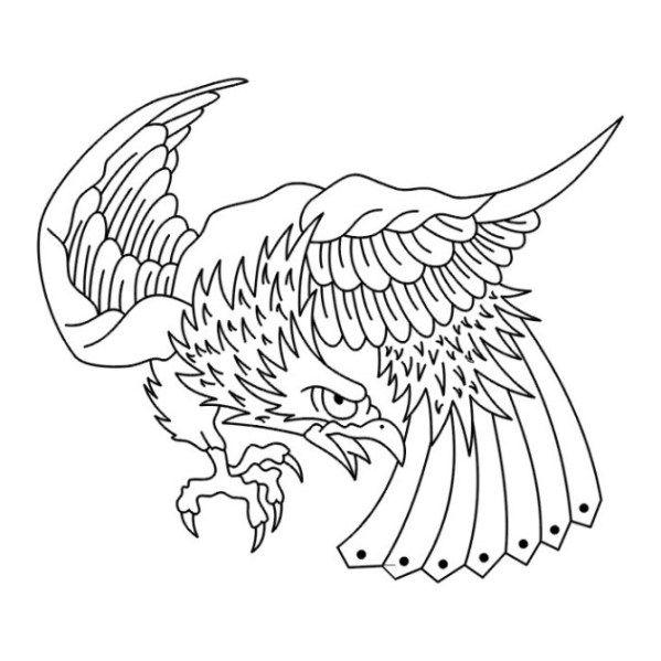 ausmalbilder adler  ausmalen tattoo schablonen