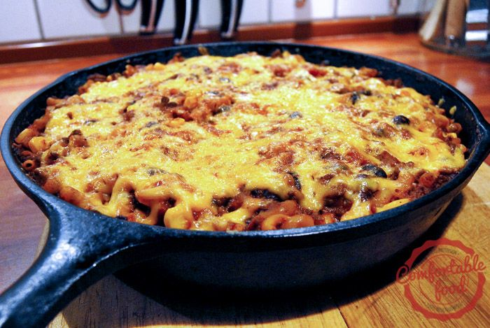 comfortable food - southwest skillet chili mac recipe