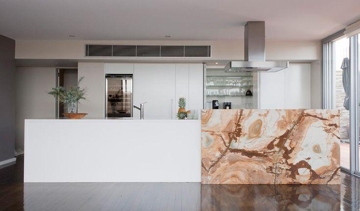 kitchen space define by bench