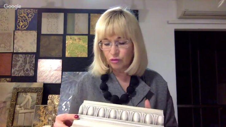 Ольга Воробьева. Создание рамы для зеркала из полиуретановых молдингов