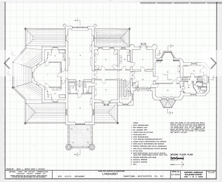 92 best historic floor plans images on pinterest floor plans lyndhurst 2nd floor malvernweather Image collections