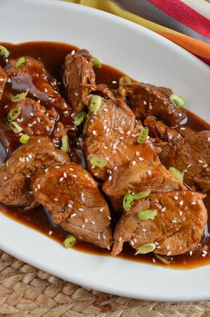 Slimming Eats Instant Pork Teriyaki Pork Tenderloin - gluten free, dairy free, paleo, Slimming World and Weight Watchers friendly