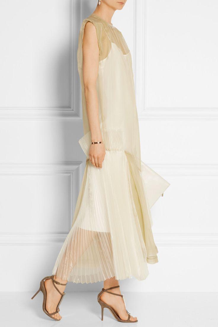 Toga|Pleated organza maxi dress|NET-A-PORTER.COM