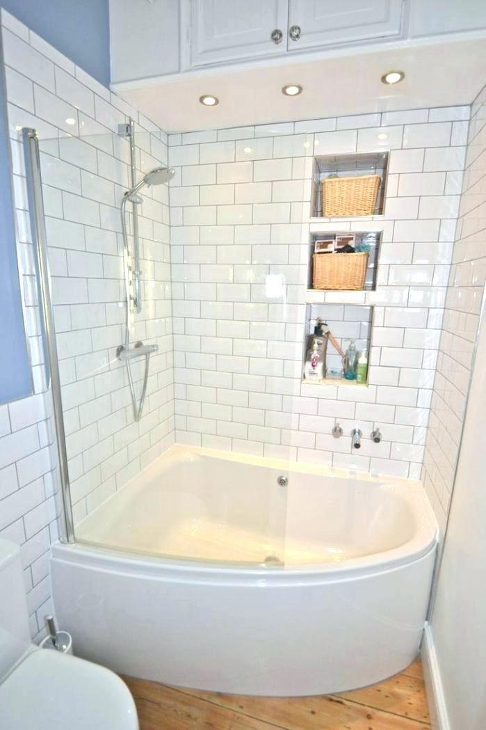 Corner Tub And Shower Combo In 2020 Bathtub Shower Combo Small