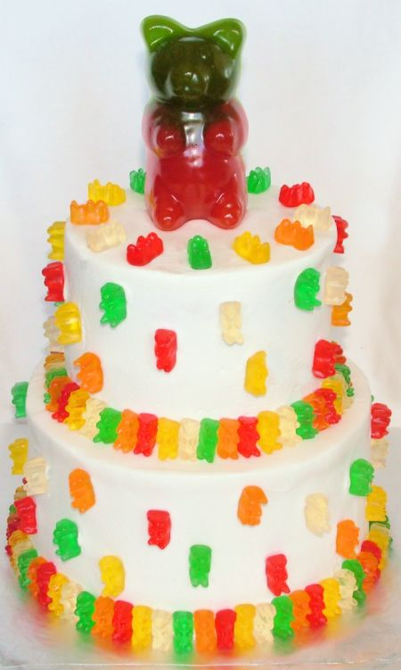 Gummy Bear Cake. Never had one and really want one.