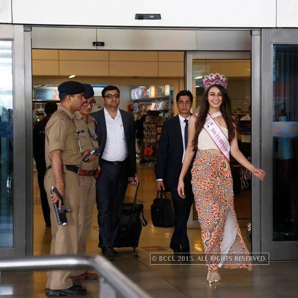 Miss India Aditi Arya's homecoming: In Pics- The Times of India Photogallery