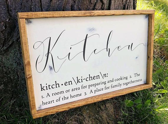 Decorative Wooden Kitchen Signs Unique Best 25 Kitchen Sign Diy Ideas On Pinterest  Wood Kitchen Signs Decorating Design