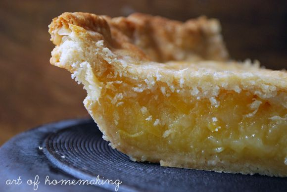 The Art of Homemaking: Shaker Lemon Pie! One of my BFFs worked at Shaker Village, I should make this for him when he comes to visit!