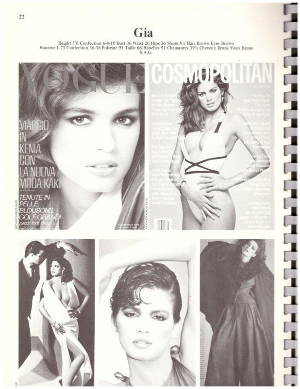 Elite Model Agency Book 1982 Catalogue Gia Carangi Andie Macdowell Vintage 80s