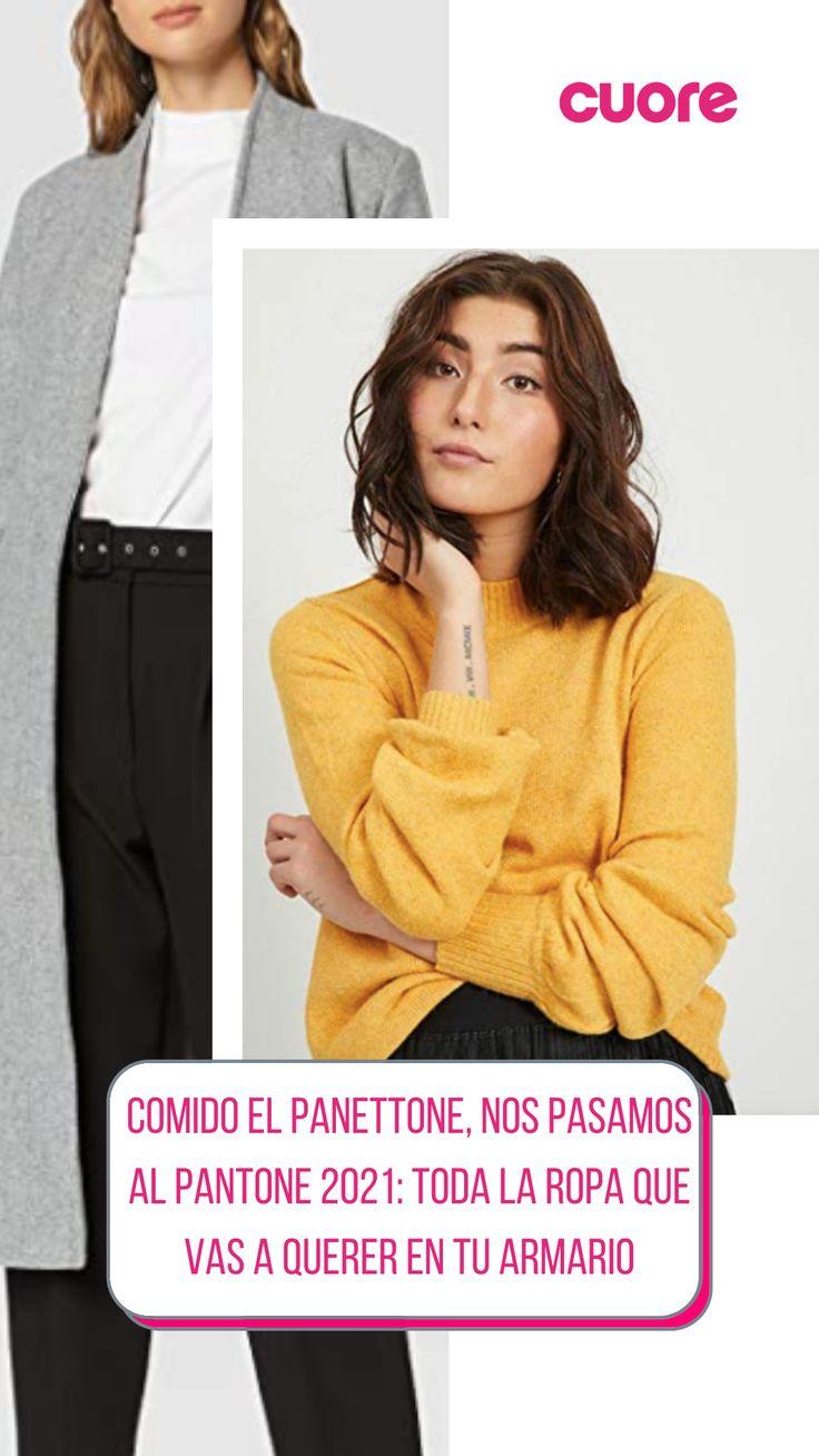 Como cada año, Pantone ha dictado sentencia sobre cuáles van a ser los dos colores 'oficiales' de 2021, y ya sabemos cuáles son los tonos que más vamos a ver en tendencias de moda y belleza: gris y amarillo, concretamente el tono 'illuminating' y el 'ultimate gray'. Sweatshirts, Sweaters, Fashion, Yellow, Gray, Color Tones, Fashion Trends, Closets, Lets Go